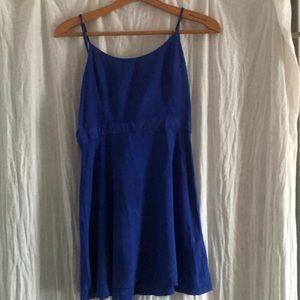 •blue skater dress•